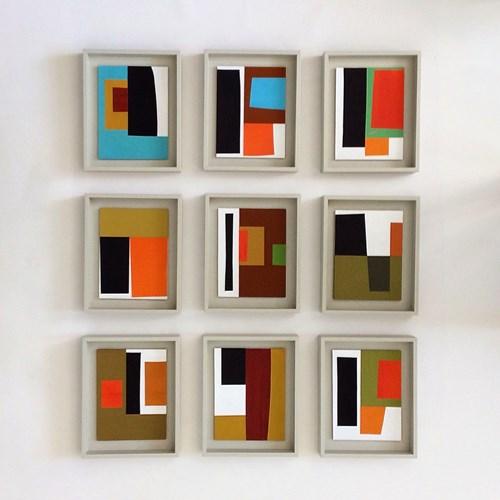 Paper       Scissors       Stone - Lot 33, John Taylor, Nine Collages (Variant 10)