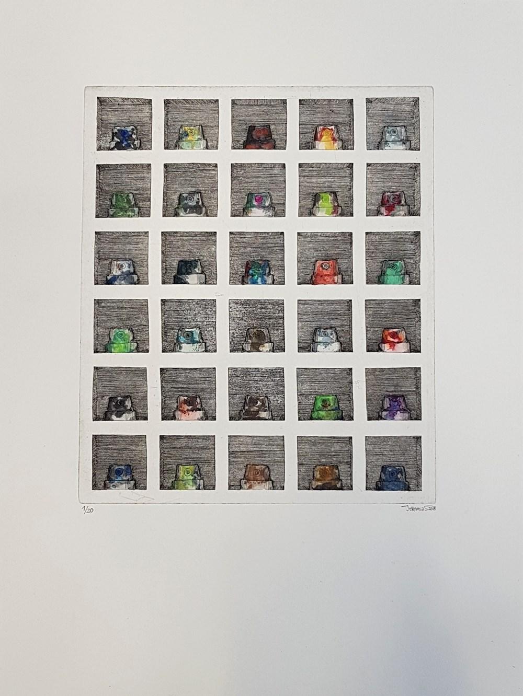 Paper       Scissors       Stone - Lot 30, Jeremias Altmann, Nozzle Box 2D