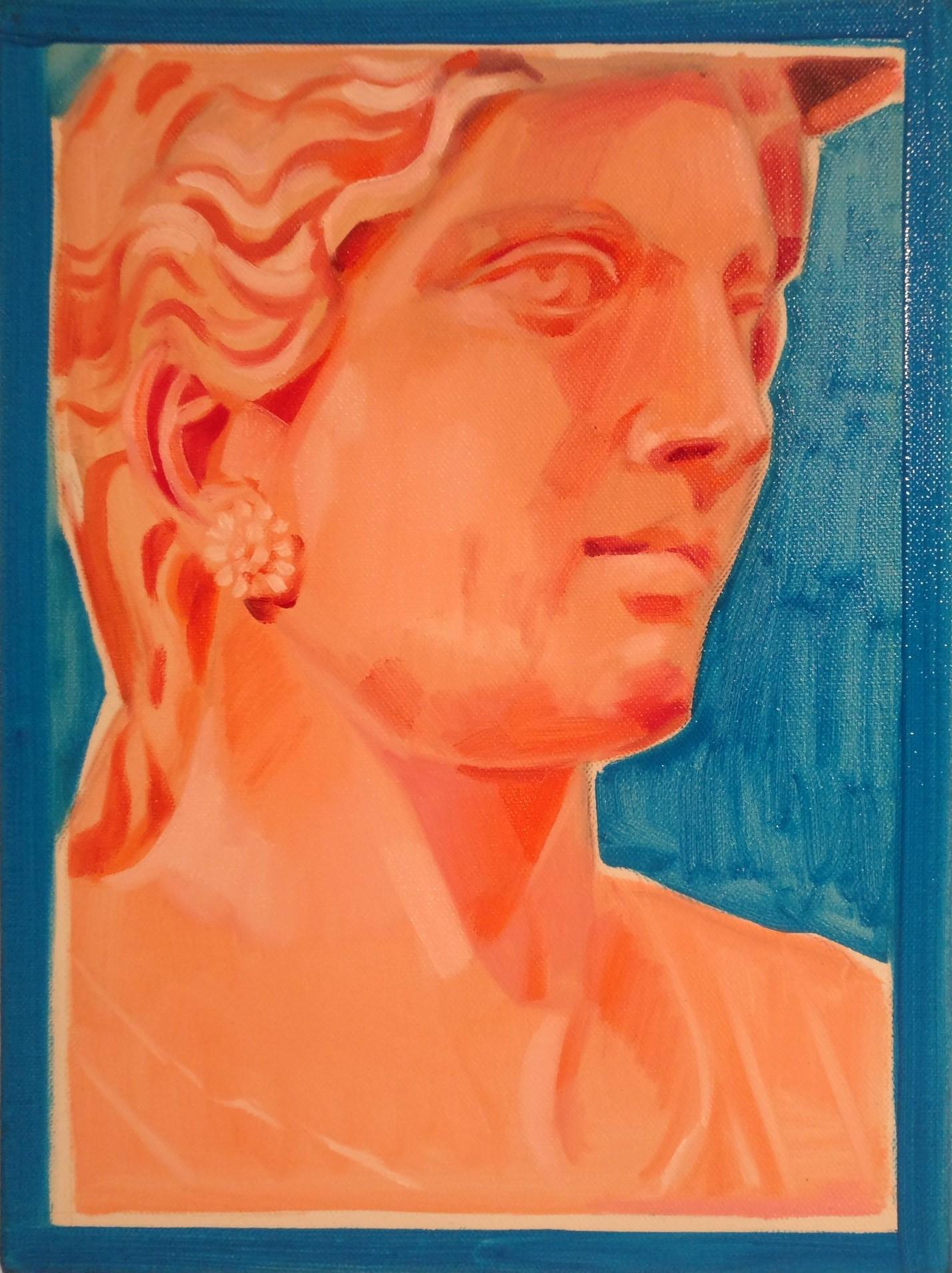 To My Twenties - Lot 33, Mary Savva, Orange Aphrodite with Sky