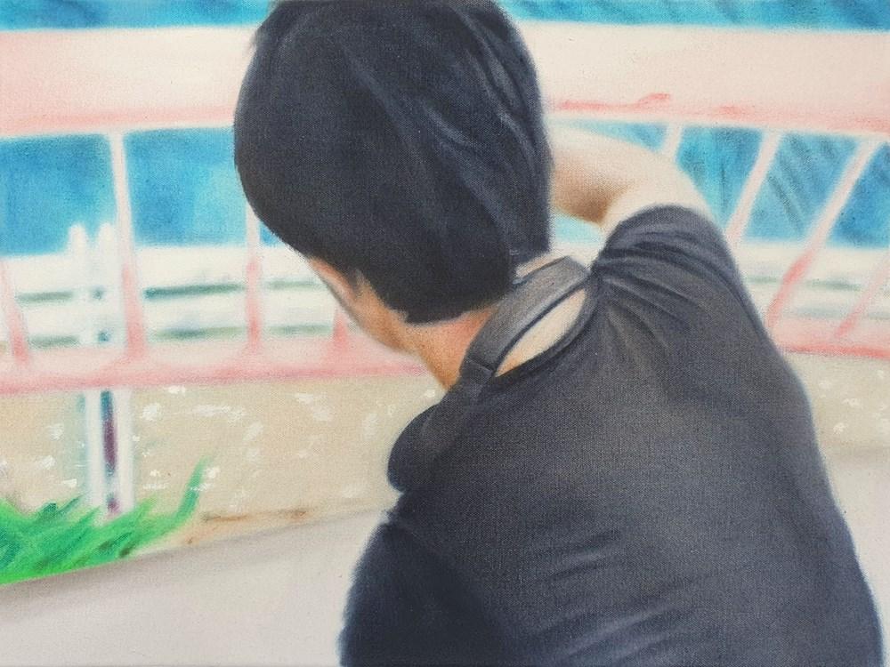 "To My Twenties - Lot 47, James Prapaithong, Self-Portrait with ""Natsukashii"""