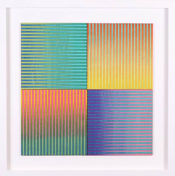 Amelia Coward, Four Ombre Square Panels, The Auction Collective
