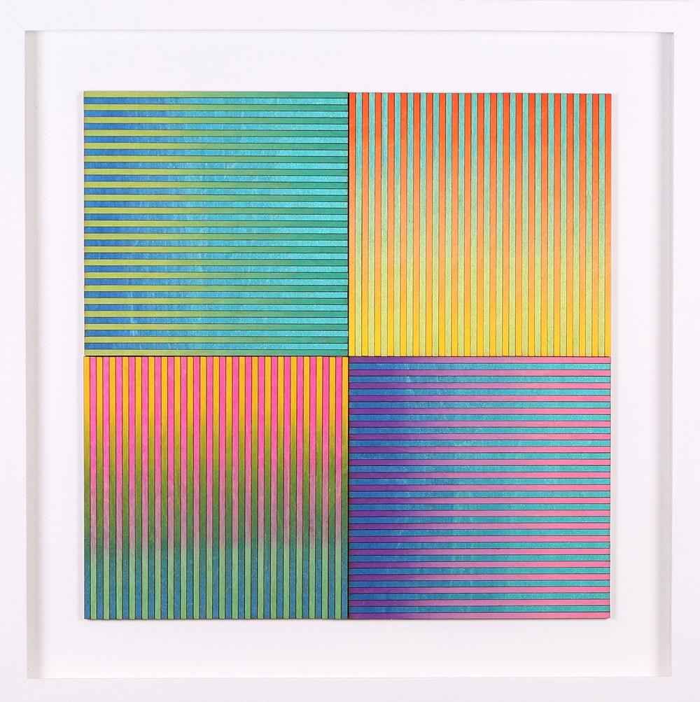The Autumn Auction 2020 - Lot 2, Amelia Coward, Four Ombre Square Panels