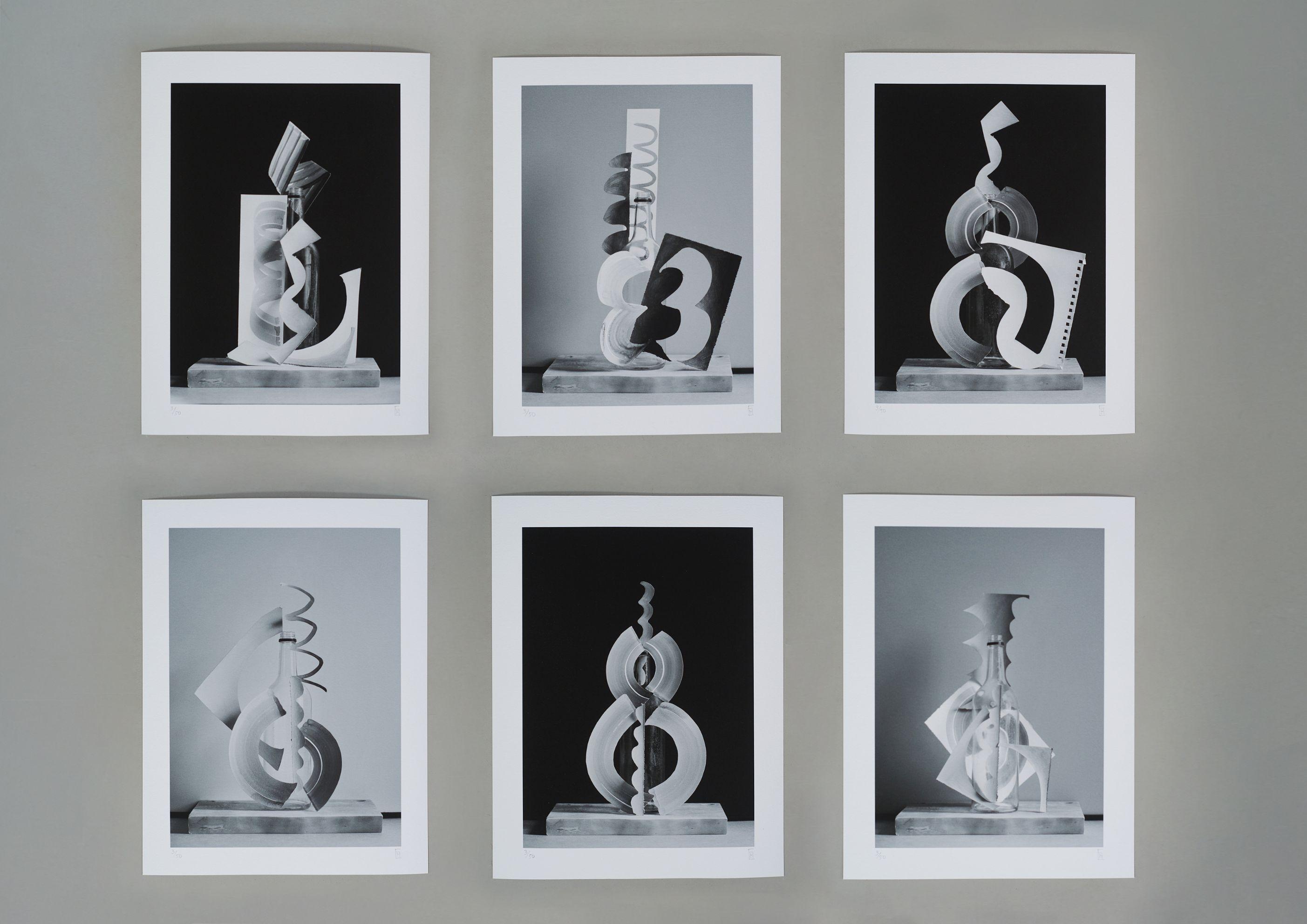 Enter the abstract - Lot 29, Edd Horder, Paper, Bottle, Chopping Board (Full Set)