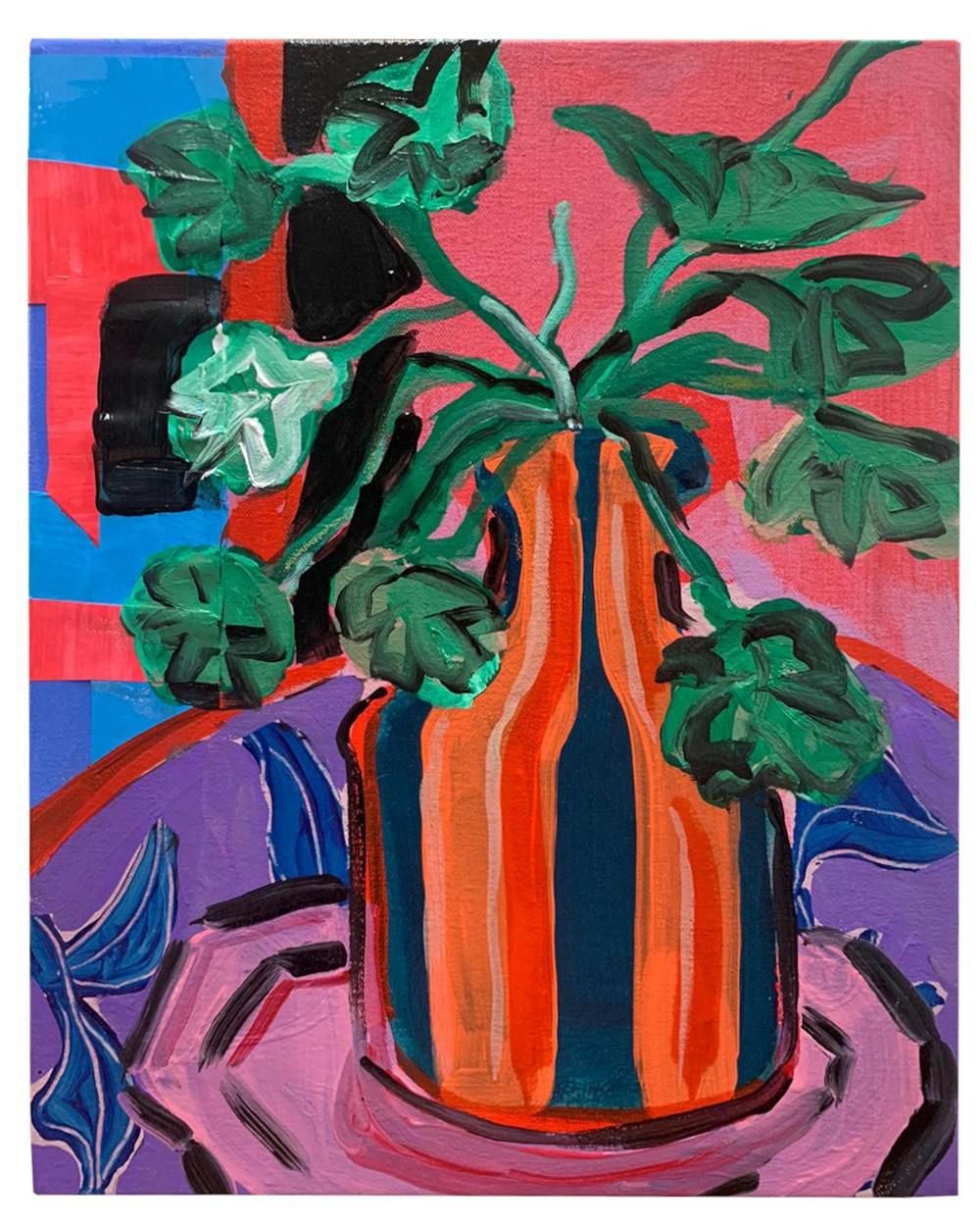 50 x £50 - Lot 10, Rose Electra Harris, Orange Vase on pink plate
