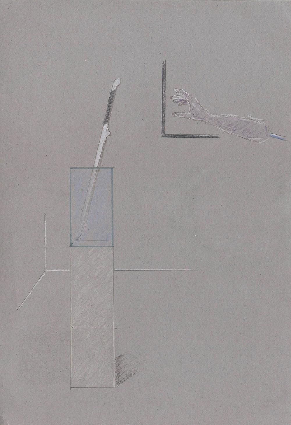 Studio Sale | Alexander Glass - Lot 22, Alexander Glass, Another Sword