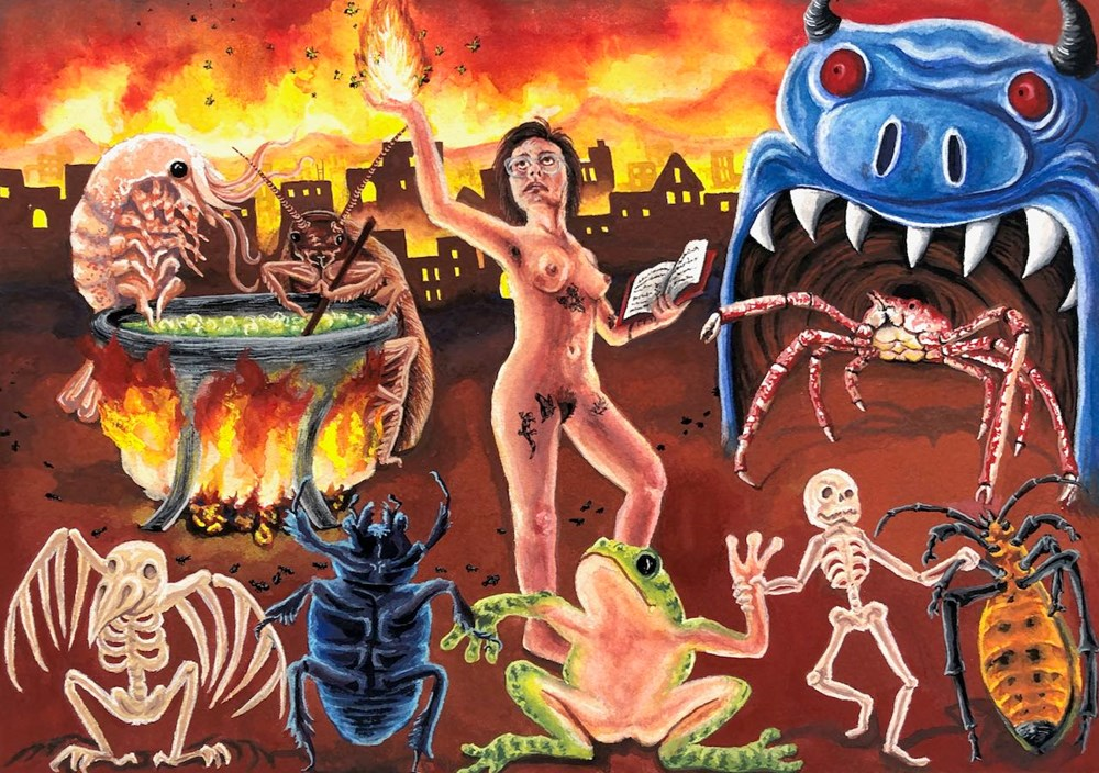 Life on Venus   The Landscape, Live Auction - Lot 5, Eleanor Quist Costello Olson, Eleanor in A Witchcraft Scene
