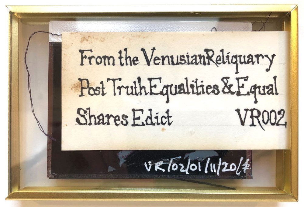 Life on Venus II   The Human, Timed Auction - Lot 106, Arabee Beveridge, From the Venusian Reliquary Post Truth Equalities & Equal Shares Edict VR002