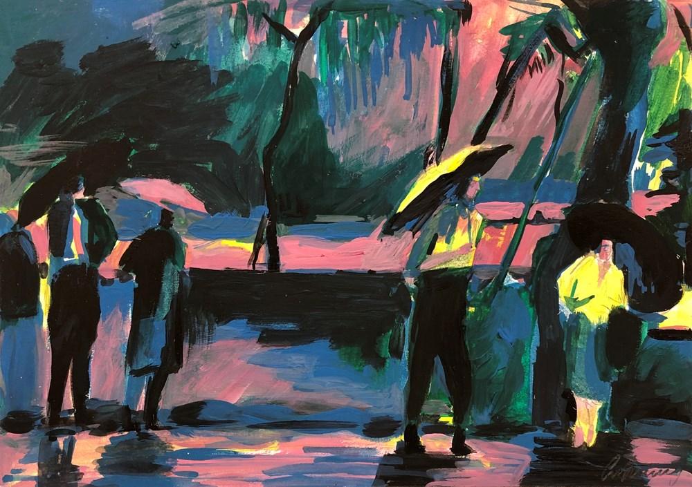 Life on Venus II   The Human, Timed Auction - Lot 122, Caroline Dunning, Walking in the Rain