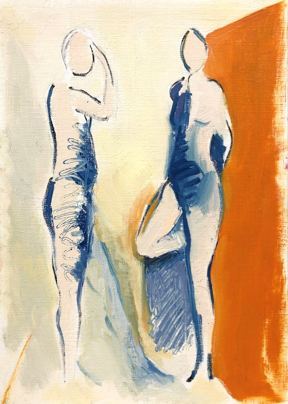 Life on Venus II   The Human, Timed Auction - Lot 133, Anthea Williams, Waiting, blue and orange