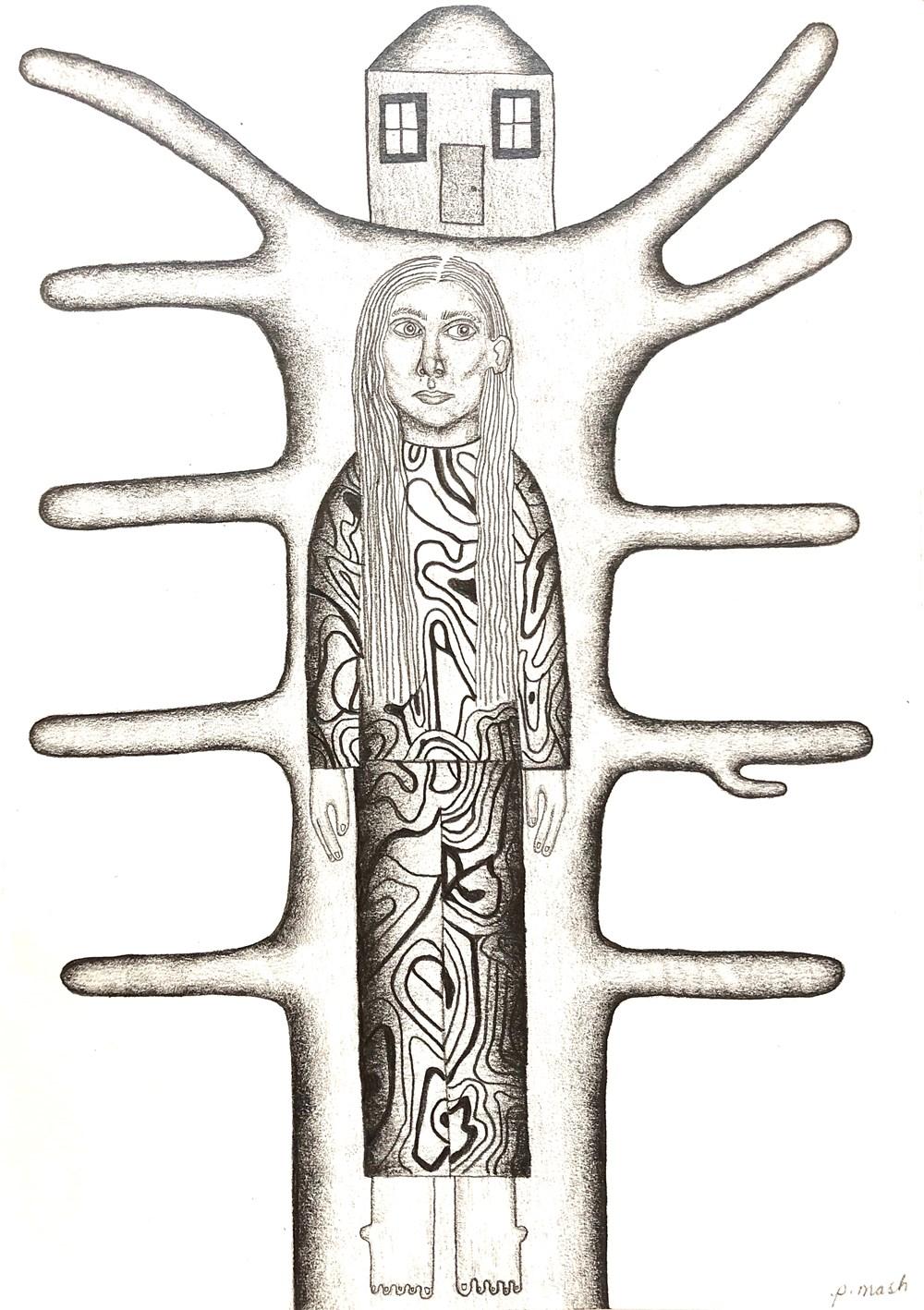 Life on Venus III | The Organic, Live Auction - Lot 16, Phoebe Mash, Untitled II (pencil on paper)