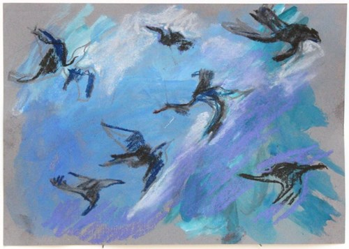 Life on Venus III   The Organic, Timed Auction - Lot 22, Vanessa Lawrence, Postcards from Hanging Rock: Birds Breaking Through I
