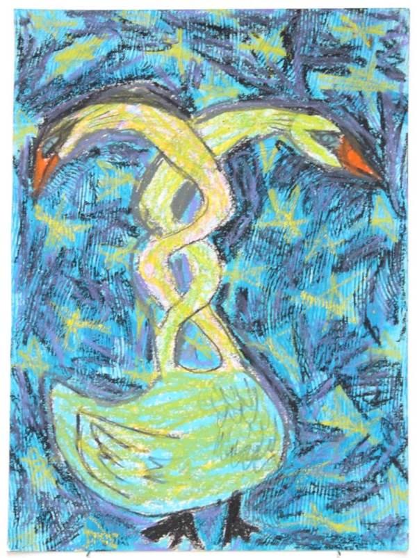 54. Maya Strauss. Two Headed Swan Twist.