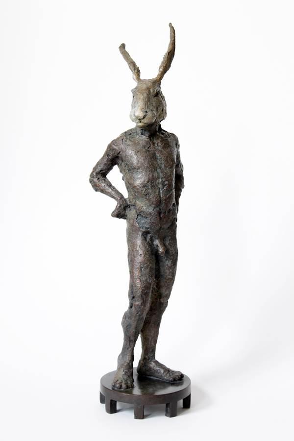 MR HARE. Bronze, 38 X 12 X12 Cm. Edition # 3 12 . Antonio Lopez Reche. Www.Antoniolopezreche.Com 2