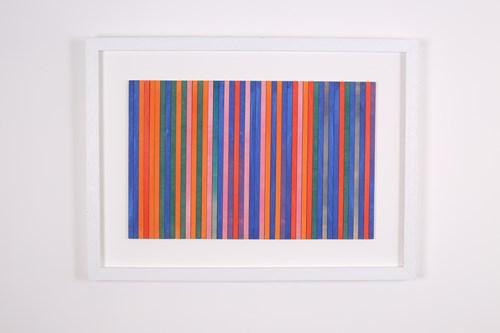 Studio Sale | Amelia Coward - Lot 13, Amelia Coward, Orange blue striped panel