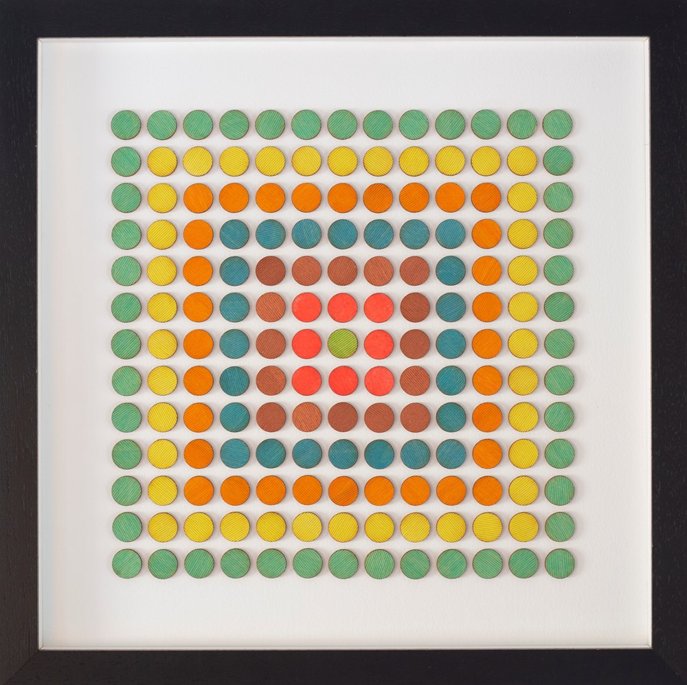 Studio Sale   Amelia Coward - Lot 7, Amelia Coward, Concentric dots yellow